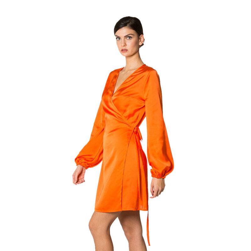 abito corto arancio