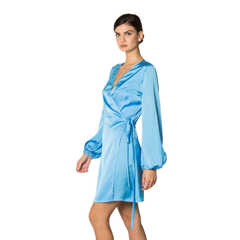 abito corto azzurro
