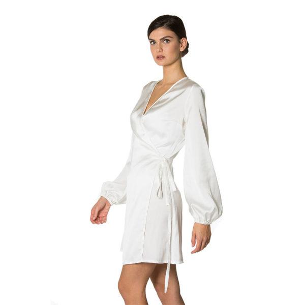 abito corto bianco