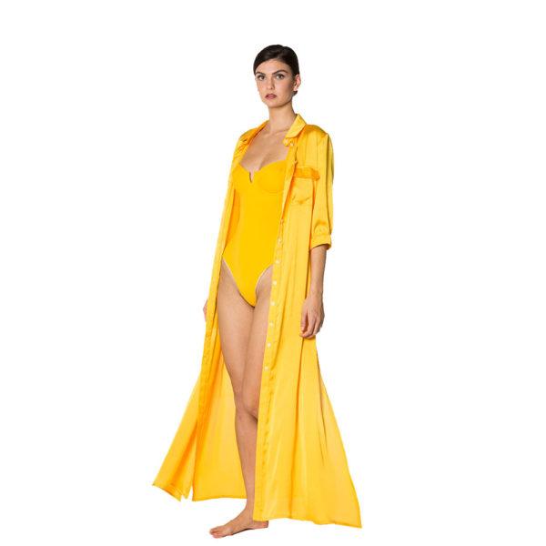 Abito camicia giallo